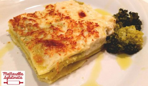 Lasagne di mais con crema di broccoli